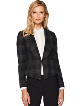 Novelty Plaid Open Jacket by Tahari By Asl