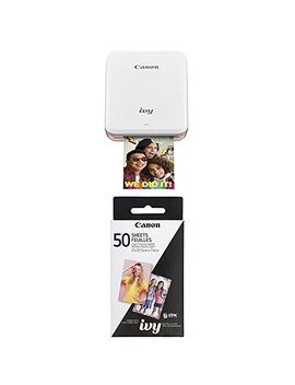 Canon Ivy Mobile, Portable Mini Photo Printer, Rose Gold With Zink Photo Paper Pack, 50 Sheets by Canon