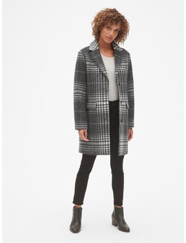 Oversized Wool Blend Cocoon Coat by Gap