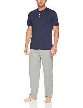 Fruit Of The Loom Men's 2 Piece Jersey Knit Pajama Set by Fruit+Of+The+Loom