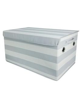 Toy Storage Bin Gray White   Pillowfort™ by Pillowfort