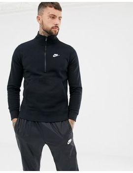 Nike Half Zip Jersey Sweat In Black 929452 010 by Nike