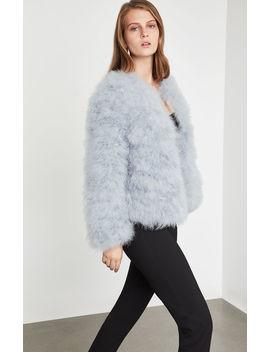 Zoey Ostrich Feather Jacket by Bcbgmaxazria