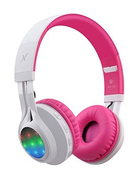 Riwbox Wt 7 S Bluetooth Headphones Light Up, Foldable Stero Wireless Headset With Microphone And Volume Control For Pc/Cell Phones/Tv/ I Pad (Pink) by Riwbox