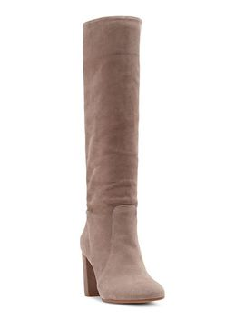 Women's Sessily Round Toe Slouchy High Heel Boots   100 Percents Exclusive by Vince Camuto