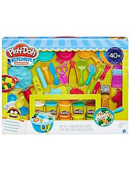 Play Doh Kitchen Creations Ultimate Chef Set   Create And Make Meals With Play Doh Kitchen Tools   40+ Pieces & 10 Cans Of Play Doh by Play Doh
