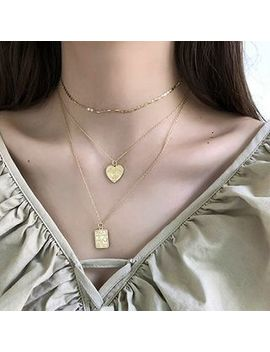 Assisi   925 Sterling Silver Heart & Poker Pendant Layered Necklace by Assisi