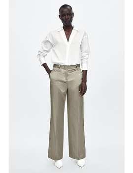 Satin Pants  Smart Pants Woman by Zara