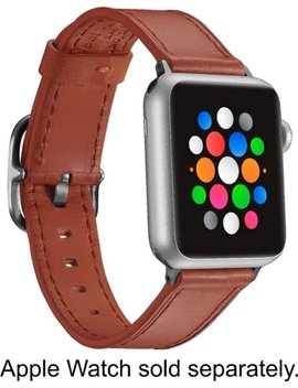 Band Leather Watch Strap For Apple Watch® 38mm And 40mm   Papaya by Platinum