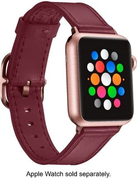 Band Leather Watch Strap For Apple Watch® 38mm And 40mm   Deep Red by Platinum