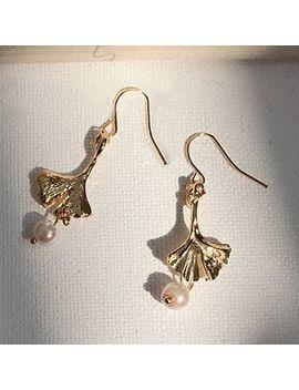 Mojia   Pearl Leaves Earring by Mojia