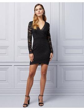 Lace Cutout Back Cocktail Dress by Le Chateau