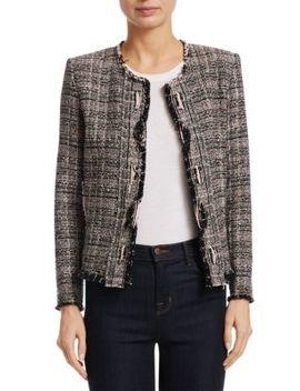 Jocund Distressed Tweed Jacket by Iro