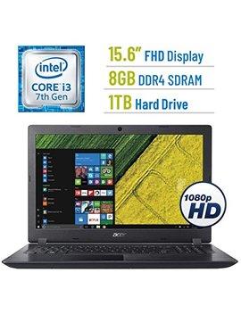 Newest Acer Aspire 5 15.6 Inch Full Hd (1920x1080) Display Premium Laptop Pc, 7th Gen Intel Dual Core I3 7100 U 2.4 G Hz Processor, 8 Gb Ddr4 Sdram, 1 Tb Hdd, Stereo Speakers, No Dvd, Windows 10 by Acer