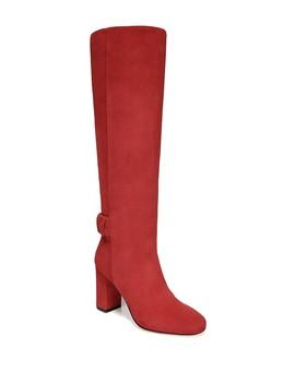 Shayla Suede Block Heel Tall Boot by Via Spiga