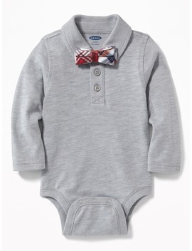 Polo Bow Tie Bodysuit For Baby by Old Navy