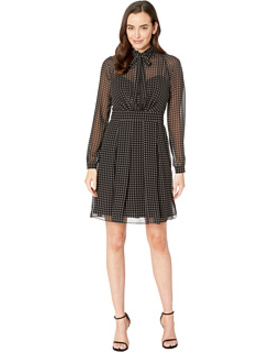 Georgette Ruffle Dress by Anne Klein
