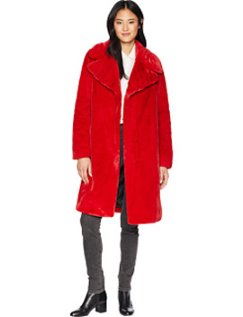 Faux Fur Long Coat by 7 For All Mankind