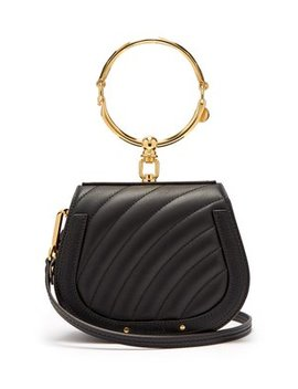 Nile Small Quilted Leather Cross Body Bag by Chloé
