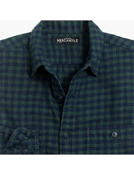 Slim Fit Heather Flannel Shirt In Small Buffalo Check by J.Crew