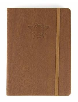 """Red Co Journal With Embossed Bee, 240 Pages, 5""""X 7"""" Lined, Brown by Red Co."""