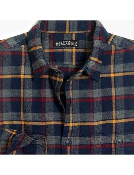 Slim Fit Heather Flannel Shirt In Plaid by J.Crew