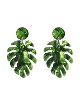 Bilibala   Acrylic Leaf Dangle Earring by Bilibala