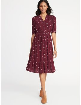 Waist Defined Shirt Dress For Women by Old Navy