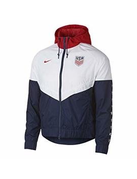 Nike Womens U.S.A Windbreaker Jacket  White/Navy/Red by Nike