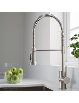 Kraus Britt™ Commercial Pull Down Single Handle Kitchen Faucet With Dual Function & Reviews by Kraus