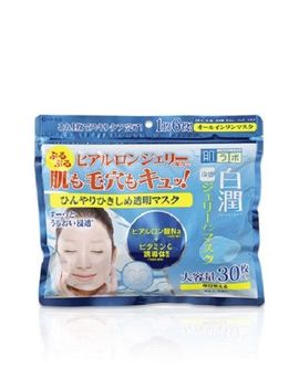 Rohto Hadalabo Shirojyun Hyaluronic Acid Jerry In Face Mask 30 Sheets Cool Type by Rohto