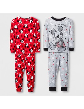 Toddler Boys' Mickey Mouse 4pc Pajama Set   Grey by Mickey Mouse & Friends