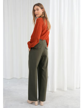 Wool Blend Workwear Pants by & Other Stories