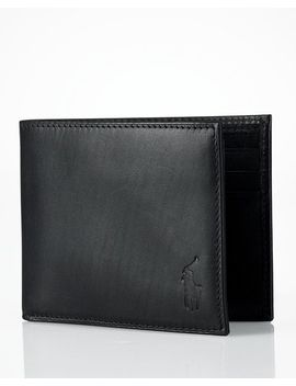 Burnished Leather Passcase Wallet by Polo Ralph Lauren