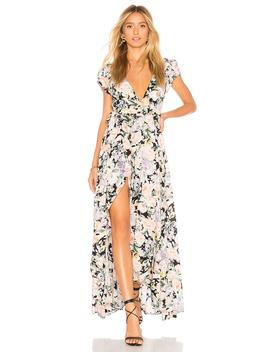 Gardenia Goldie Wrap Maxi Dress by Auguste