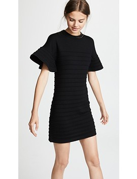 Flounce Sleeve Mini Dress by Victoria Victoria Beckham