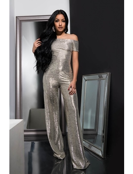 Snow Queen Off The Shoulder Jumpsuit by Akira