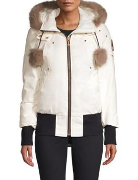 Yorkdale Fox Fur Trimmed Bomber by Moose Knuckles