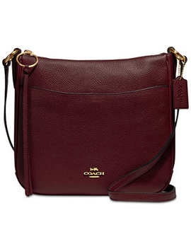 Polished Pebble Leather Chaise Crossbody by Coach