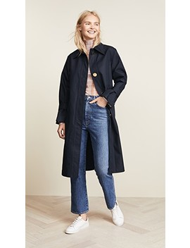 Trench Coat With Oversize Buttons by Edition10