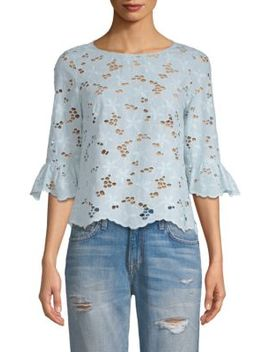Adriana Floral Eyelet Top by Rebecca Taylor