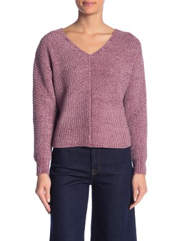 V Neck Chenille Sweater by Absolutely Cotton