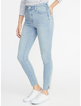 High Rise Built In Warm Raw Edge Rockstar Jeans For Women by Old Navy
