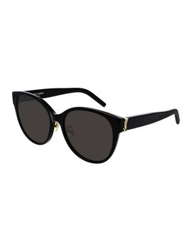 Sl M39 Rounded Acetate Sunglasses by Saint Laurent