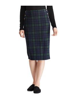 Plaid Knit Jacquard Midi Skirt by Lauren Ralph Lauren