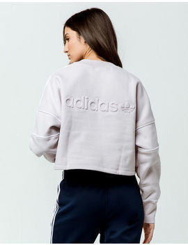 Adidas Embossed Logo Womens Crop Sweatshirt by Adidas