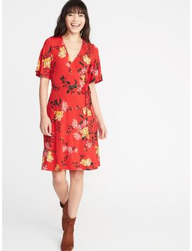 Tie Belt Bell Sleeve Dress For Women by Old Navy