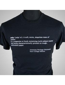 Pulp Fiction Opening Text Movie Themed Retro T Shirt Tarantino Cult Tee by Gildan