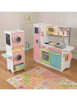 Kid Kraft Uptown Pastel Play Kitchen And Laundry Playset by Kid Kraft