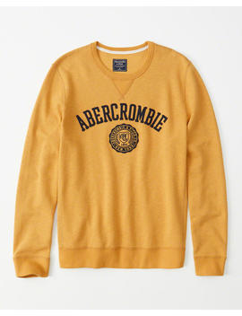 Logo Crewneck Sweatshirt by Abercrombie & Fitch